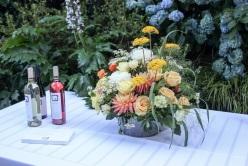 Wedding or wine launch? Amazing flowers all around