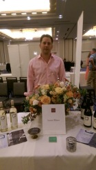 A winemaker and his giant bouquet of flowers. Flowers were amazing.