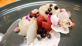 sturgeon, elderberry, sunchokes